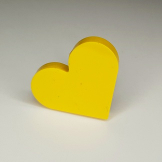 A kitsch yellow heart shaped ring made from casting resin by The Pea Hive